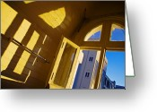 Long Street Greeting Cards - Long Street Morning Greeting Card by Skip Hunt