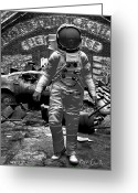 Astronaut Digital Art Greeting Cards - Long Time Gone Greeting Card by Bob Orsillo