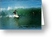 Surf Art La Jolla Digital Art Greeting Cards - Longboard Magic Greeting Card by David Rearwin