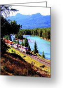 Freight Greeting Cards - Longest Journey Greeting Card by Karen Wiles