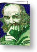 Ball Point Pen Greeting Cards - Longfellow Greeting Card by Jerry  Stith