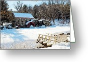 Wayside Greeting Cards - Longfellows Grist Mill Greeting Card by Frank Garciarubio