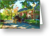 Buggy Greeting Cards - Longfellows Wayside Inn Greeting Card by Barbara McDevitt