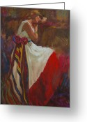 Clothed Figure Greeting Cards - Longing Greeting Card by Brian Freeman