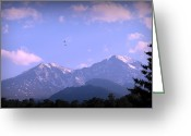 Southern Rocky Mountains Greeting Cards - Longs Peak and Mount Meeker Views Greeting Card by Aaron Burrows