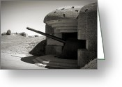 Nazi Greeting Cards - Longues-sur-Mer German battery Greeting Card by RicardMN Photography