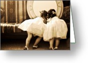 Girls Greeting Cards - Look at Me Greeting Card by Barb Pearson