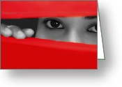 Selective Color Greeting Cards - Look Into My Eyes Greeting Card by Mukesh Srivastava