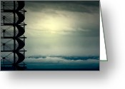 Thunderstorms Greeting Cards - Look Out Greeting Card by Joana Kruse