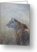 Wildlife Sculpture Greeting Cards - Look Out Greeting Card by Todd  Gates