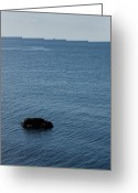 Fishers Greeting Cards - Looking Across Fishers Island Sound Greeting Card by Todd Gipstein