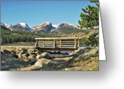 Bridge Greeting Cards Greeting Cards - Looking At Longs Peak Greeting Card by James Steele