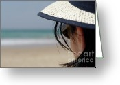 Contemplation Greeting Cards - Looking at the horizon Greeting Card by Sami Sarkis