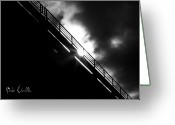 Black And White Photograph Greeting Cards - Looking At The Sun Greeting Card by Bob Orsillo