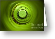Wall Pictures Greeting Cards - Looking deep into the bottle Greeting Card by Frank Tschakert
