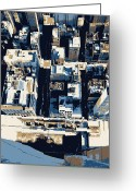 The Capital Of The World Greeting Cards - Looking Down Color 6 Greeting Card by Scott Kelley