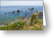 Stack Rock Greeting Cards - Looking Down On The Rocks Greeting Card by James Forte
