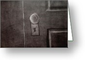 Knob Drawings Greeting Cards - Looking Out Greeting Card by Keith Straley