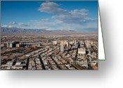 Landscapes Greeting Cards - Looking over Downtown Greeting Card by Andy Smy