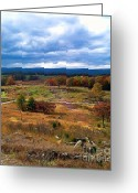 Gettysburg Greeting Cards - Looking Over The Gettysburg Battlefield Greeting Card by Christian David Photography AKA Christian Wilson