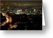 Hollywood Bowl Greeting Cards - Looking to LA Greeting Card by Joe Urbz