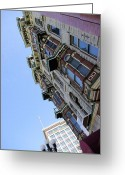 Greaves Greeting Cards - Looking up from the Gaslamp Greeting Card by John  Greaves