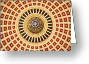 Legislature Greeting Cards - Looking Up Greeting Card by Ricky Barnard