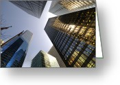 Midtown Greeting Cards - Looking up Greeting Card by Svetlana Sewell