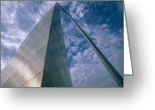 Flexibility Greeting Cards - Looking Upwards At The Saint Louis Arch Greeting Card by Medford Taylor