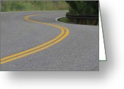 Yellow Line Greeting Cards - Lookout Mountain Road Bend, Colorado Greeting Card by John Kieffer