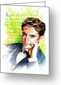 Spaniards Greeting Cards - Lorca Greeting Card by Ken Meyer jr