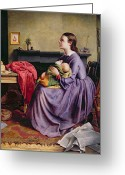 1855 Greeting Cards - Lord - Thy Will Be Done Greeting Card by Philip Hermogenes Calderon
