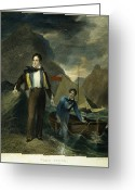 Cravat Greeting Cards - Lord Byron Greeting Card by Granger
