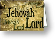 Vine Mixed Media Greeting Cards - Lord Jehovah 2 Greeting Card by Angelina Vick