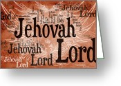 Rabbi Greeting Cards - Lord Jehovah Greeting Card by Angelina Vick