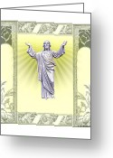 Transcend Greeting Cards - Lord Jesus Greeting Card by Brian Wallace