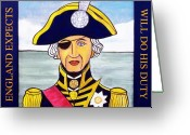 Lord Admiral Nelson Greeting Cards - Lord Nelson Greeting Card by Paul Helm