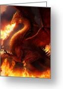 Mythology Greeting Cards - Lord of the Dragons Greeting Card by Philip Straub