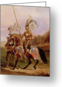 Round Table Greeting Cards - Lord of the Tournament Greeting Card by Edward Henry Corbould
