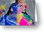 Religion Ceramics Greeting Cards - Lord Shiva Greeting Card by Joni Mazumder