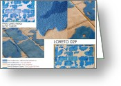Mexico Tapestries - Textiles Greeting Cards - Loreto 029 Greeting Card by Per Lidvall