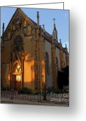Santa Fe Digital Art Greeting Cards - Loretto Chapel 1878 Greeting Card by David Lee Thompson