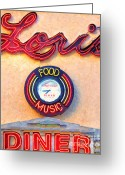 Welcome Signs Greeting Cards - Loris Diner San Francisco Greeting Card by Wingsdomain Art and Photography