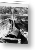 Southern Rocky Mountains Greeting Cards - Los Angeles Aqueduct Greeting Card by Granger