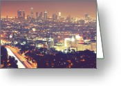 Long Street Photo Greeting Cards - Los Angeles Greeting Card by Dj Murdok Photos