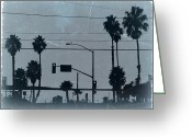 Golden Digital Art Greeting Cards - Los Angeles Greeting Card by Irina  March