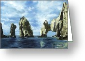 Reinhardt Greeting Cards - Los Arcos Greeting Card by Lisa Reinhardt