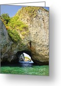 Caves Greeting Cards - Los Arcos Park in Mexico Greeting Card by Elena Elisseeva