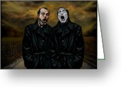 Two Men Greeting Cards - Los Tenores Greeting Card by Raul Villalba