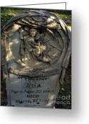 Guardian Angel Greeting Cards - Lost at Birth Greeting Card by Peter Piatt